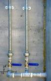 Galvanized steel tubes Stock Image