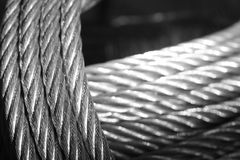 Galvanized wire rope Stock Photography