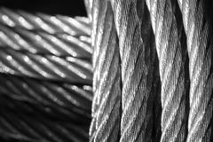 Galvanized wire rope Stock Images