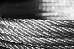 Galvanized wire rope Royalty Free Stock Images