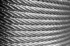 Galvanized wire rope Royalty Free Stock Photos