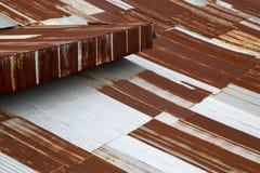 Galvanized zinc roof Royalty Free Stock Image