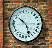 Galvano magnetic precision clock at Greenwich observatory in London. Royalty Free Stock Photo