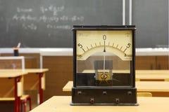 Galvanomètre éducatif avec le nombre non réel 555 Photo stock