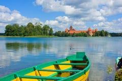 galve湖立陶宛trakai 免版税库存图片