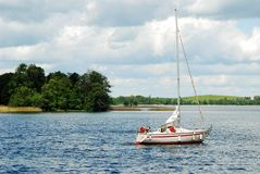 Galves lake and boats in the lake view Royalty Free Stock Photo