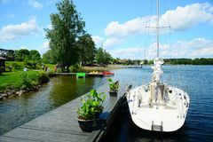 Galves lake and boats in the lake view Royalty Free Stock Photography