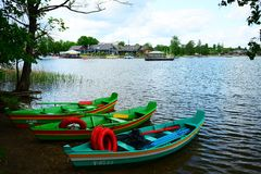 Galves lake and boats in the lake view Stock Photo
