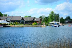 Galves lake,Trakai old city old houses view Royalty Free Stock Images