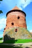 Galves lake,Trakai old red bricks castle view Stock Images