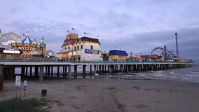 Galveston Historic Pleasure Pier. Texas, USA stock footage