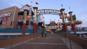 Galveston Historic Pleasure Pier. Texas, USA stock video footage
