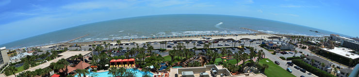 Galveston island Beach panoramic view
