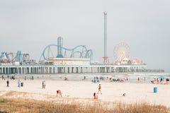 The Galveston Island Historic Pleasure Pier, in Galveston, Texas.  royalty free stock images