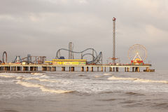 Galveston Island Pleasure Pier Royalty Free Stock Photos