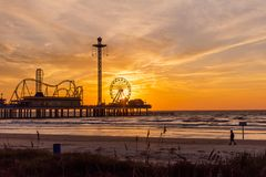 Galveston Island, Texas royalty free stock photo