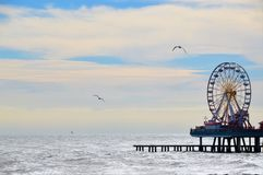 Galveston pir Royaltyfri Fotografi