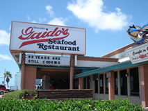 Galveston Recovery. Gaido's restaurant on the waterfront of Galveston Beach, showing the quick recovery and prosperity since Hurricanes Rita and Ike Stock Photos