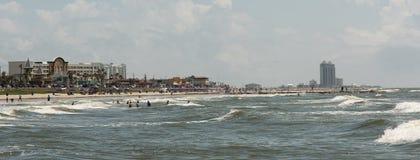 Galveston strand Fotografering för Bildbyråer