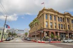 Galveston strandbris och hav royaltyfria foton