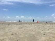 Galveston Texas Beach Fotografia de Stock Royalty Free