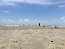 Galveston Texas beach Royalty Free Stock Photography
