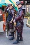 Galveston, TX/USA - 12 06 2014: Mężczyzna ubierający jako fantazja nielegalnie kopiować przy Dickens na pasemko festiwalu w Galve Zdjęcia Royalty Free