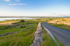 Galway Bay. Seen from a high viewpoint from the Burren hills Stock Image