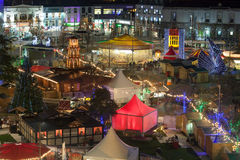 Galway Christmas Market at night. Night view of Galway Continental Christmas Market. Detail. Ireland Royalty Free Stock Photography