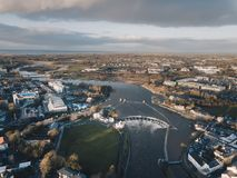 Galway City. From above stock image