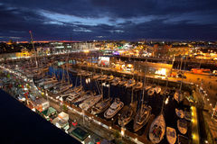 Galway Docks, Race Village at night. Stock Photos