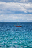 Galway Hooker. Traditional boat on the Atlantic Ocean, Ireland Stock Photography