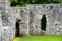 GALWAY, IRELAND - AUGUST 22, 2017: Aughnanure Castle in Ireland near Galway Royalty Free Stock Photos