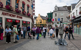 Galway main street. Picture taken on Galway's main street on the west coast of Ireland Stock Photo