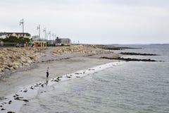 Galway promenade and the Atlantic Ocean Stock Images
