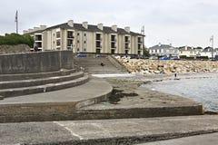 Galway promenade and the Atlantic Ocean Royalty Free Stock Image