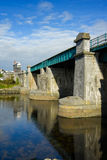 Galway railway bridge. Vew reflected in the river Royalty Free Stock Images