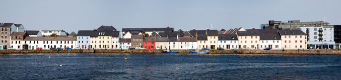 Galway Skyline. Panoramic view of the The Long Walk, Galway, Ireland Royalty Free Stock Photo