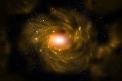 Galáxia amarela Imagens de Stock