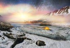 Galáxia e Berbeneskul Imagem de Stock Royalty Free