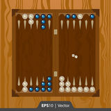 A gamão ajustou-se para o projeto de relação do desenvolvimento do jogo em duas cores imagens de stock royalty free