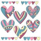 ζωηρόχρωμη καρδιά συλλο&gam Στοκ φωτογραφία με δικαίωμα ελεύθερης χρήσης