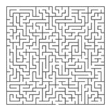 Gam quadrado grande do labirinto ilustração royalty free