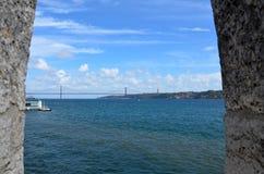 gama Λισσαβώνα Vasco DA γεφυρών Στοκ φωτογραφία με δικαίωμα ελεύθερης χρήσης
