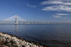 gama Λισσαβώνα Vasco DA γεφυρών στοκ εικόνες