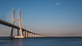 gama Λισσαβώνα Vasco DA γεφυρών Στοκ Φωτογραφία