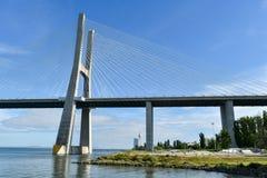 Gama του Vasco DA γέφυρα - Λισσαβώνα, Πορτογαλία Στοκ εικόνα με δικαίωμα ελεύθερης χρήσης