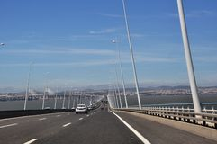 Gama του Vasco DA γέφυρα, Πορτογαλία Στοκ εικόνα με δικαίωμα ελεύθερης χρήσης