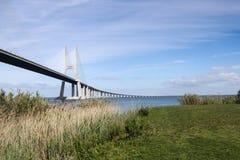 Gama του Vasco DA γέφυρα στοκ φωτογραφία με δικαίωμα ελεύθερης χρήσης