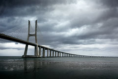Gama του Vasco DA γέφυρα Στοκ Εικόνες